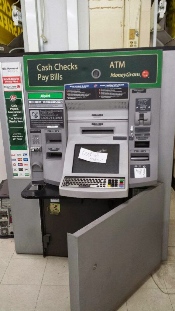 moving commercial bank atm machine