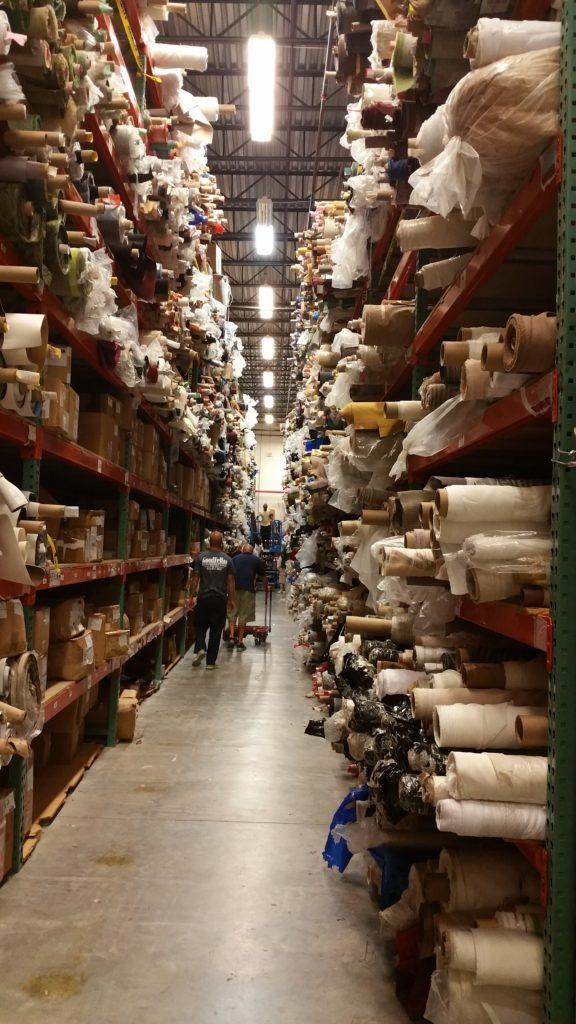 moved arround 1000 fabric rolls