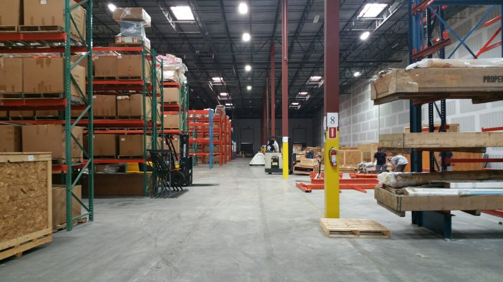 Warehouse moved