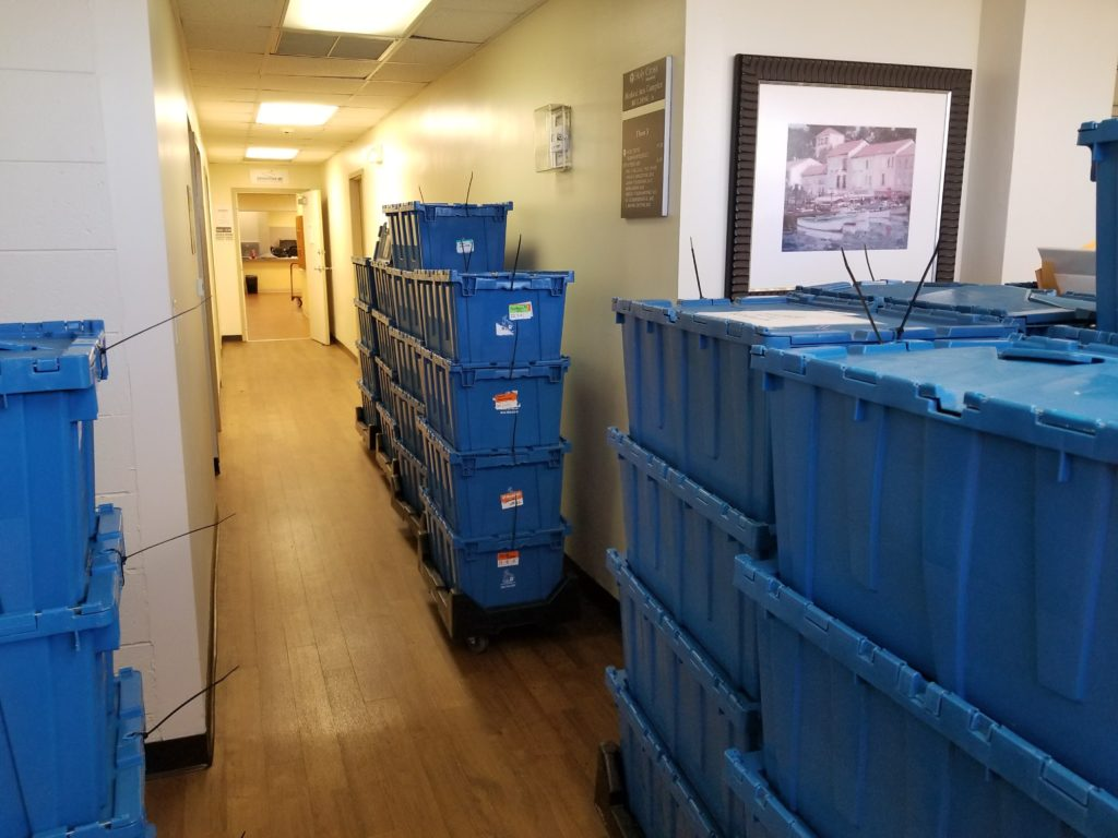 medical office using e crates moving