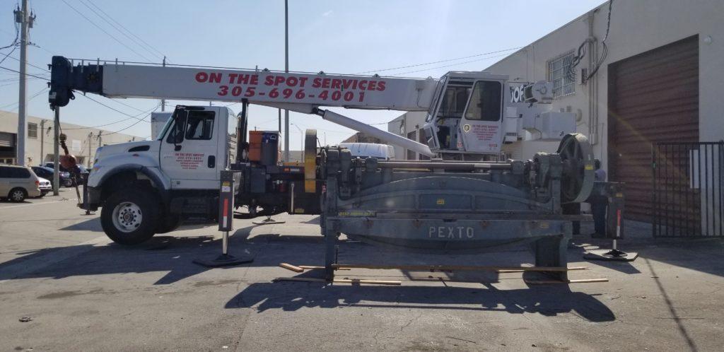 heavy machine relocated